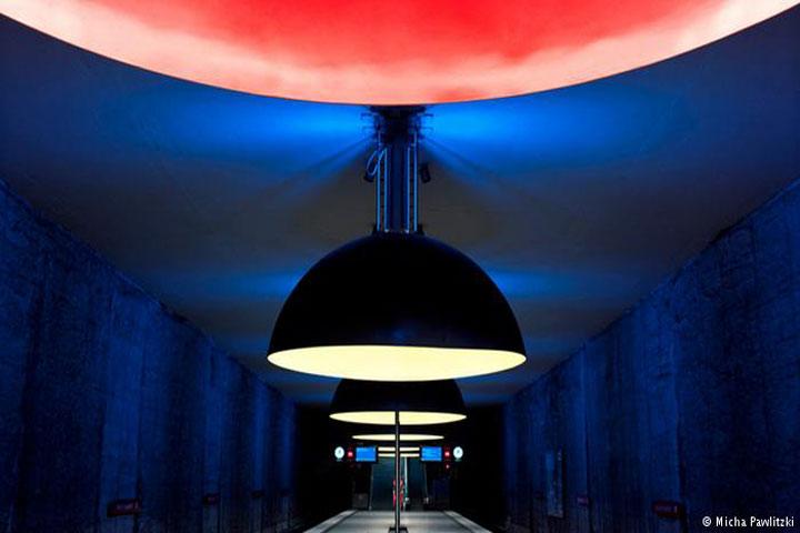 জার্মানির মিউনিখের দৃষ্টিনন্দন ভেস্টফ্রিডহোফ পাতালস্টেশন। ছবি: ডয়েচে ভেলে