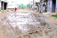 রাজধানীর বনশ্রী এলাকার অধিকাংশ রাস্তাই কাঁচা