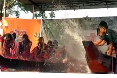 জলকেলির মধ্য দিয়ে শেষ হচ্ছে সাংগ্রাই উৎসব