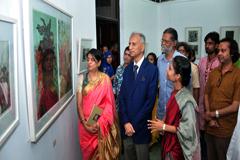 চারুকলায় 'নব-সৃজনের আলোয়' শীর্ষক চিত্র প্রদর্শনীর উদ্বোধন