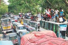যানজটে ঢাকা-চট্টগ্রাম মহাসড়ক
