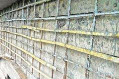 বান্দরবানে কলেজ ভবনে রডের বদলে বাঁশ