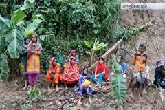 বান্দরবানে পাহাড় ধসে ক্ষতিগ্রস্ত হয়েছে অনেক পরিবার