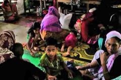 রাঙ্গামাটির ক্ষতিগ্রস্ত বাসিন্দারা অনেকেই এখনো আশ্রয়কেন্দ্রে