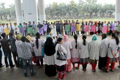 রংপুরে ইর্ন্টানি ডাক্তারদের দ্বিতীয় দিনের মত ধর্মঘট