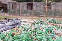 বোতল বাড়ী তৈরী হচ্ছে লালমনিরহাটে