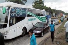 ঢাকা-চট্টগ্রাম মহাসড়কে ১৪ কিমি যানজট