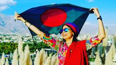 বিশ্বভ্রমণে ১১০তম দেশে পৌঁছে গেলেন নাজমুন নাহার