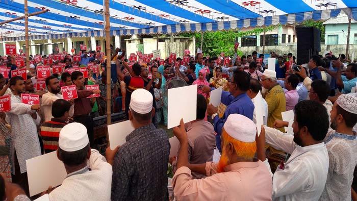 ইসলামপুরে বাল্যবিবাহকে লাল কার্ড দেখিয়ে শপথ পাঠ