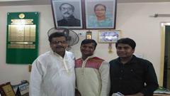 ঝিনাইদহ মেয়রের সঙ্গে ঢাকা কলেজ সাংবাদিক সমিতির সাক্ষাৎ