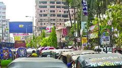 ফেনী শহরে অনুমোদনহীন বাস কাউন্টার, বাড়ছে যানজট