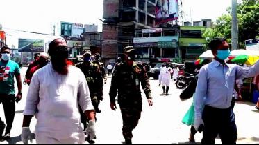 চুয়াডাঙ্গায় করোনা সচেতনতায় মাঠে সেনাবাহিনী