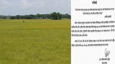 'কৃষি জমি ফেলে রাখলে সরকার নিয়ে নেবে' গণবিজ্ঞপ্তি