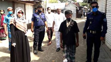 নাসিরনগরে দোকান খোলা রাখায় ১০ জনকে জরিমানা