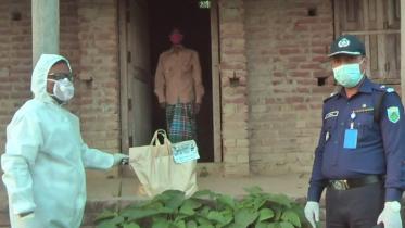 কোয়ারেন্টাইনে থাকা কৃষককে খাদ্য পৌঁছালেন এমপি বকুল