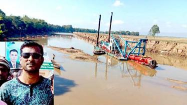 বৌলাই নদীতে অপরিকল্পীত ড্রেজিংয়ে ফসলী জমি ক্ষতির মুখে