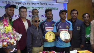 কুমিল্লায় বিশ্বকাপ জয়ী ৩ ক্রিকেটারকে সংবর্ধনা