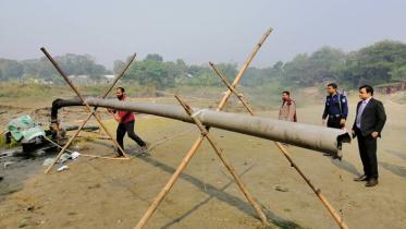 দোহারের লটাখোলা খালে বালু উত্তোলন বন্ধ