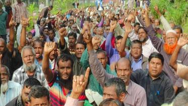 রাজশাহী পাটকল শ্রমিকদের আমরণ অনশন চলছে