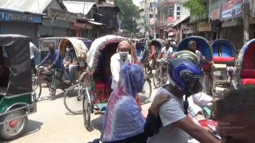 রাজবাড়ীতে বাজার ও রাস্তায় বেড়েছে জনসমাগম