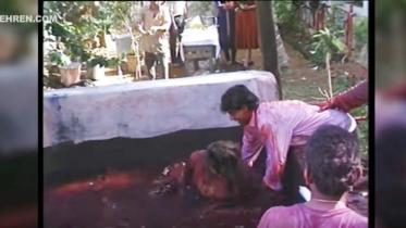 গৌরীকে রঙের চৌবাচ্চায় ফেলে দিলেন শাহরুখ