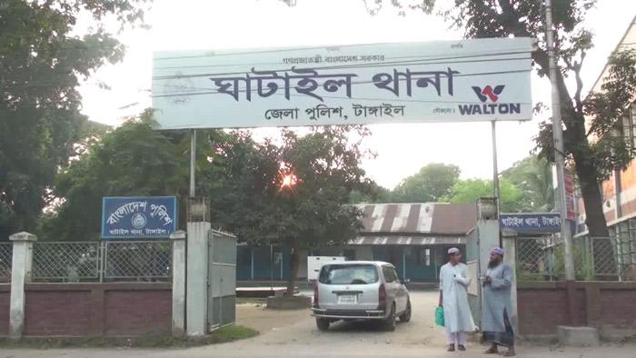টাঙ্গাইলের ঘাটাইল থানার ফটক- একুশে টেলিভিশন
