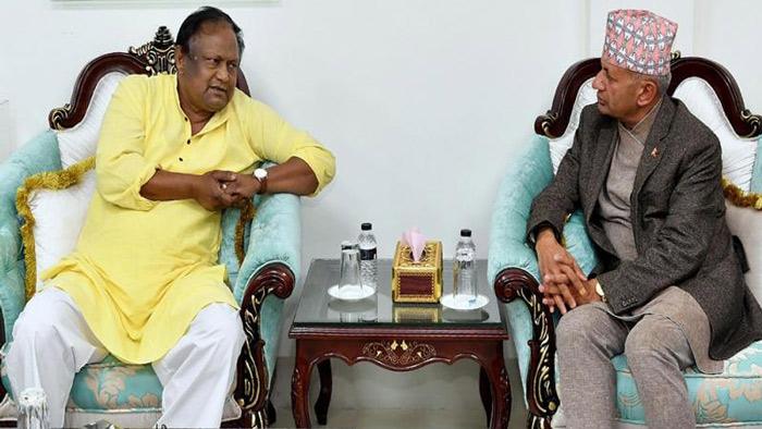 বাণিজ্যমন্ত্রী টিপু মুনশির সঙ্গে নেপালের বাণিজ্যমন্ত্রী