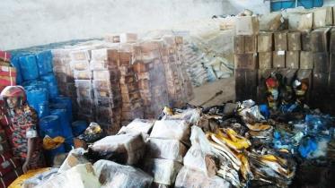 বেনাপোল বন্দরে কোটি টাকার আমদানি পণ্য আগুনে পুড়ে ছাই