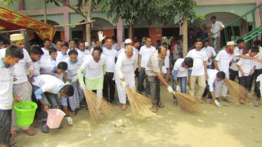 সিরাজগঞ্জে সবুজ-পরিচ্ছন্ন ও নিরাপদ বিদ্যালয় ক্যাম্পেইন