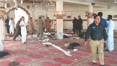 পাকিস্তানে মসজিদে বোমা হামলায় ৪ জন নিহত
