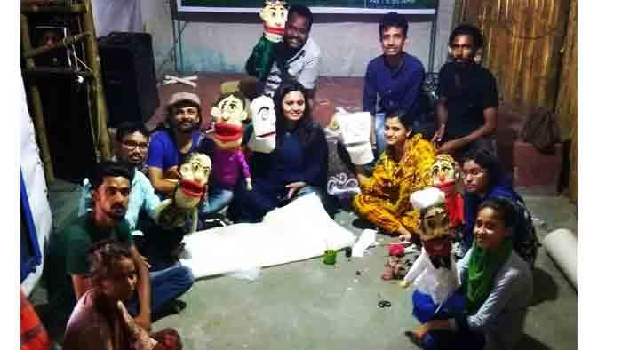 ময়মনসিংহে পুতুল নাট্য কর্মশালা শেষ হচ্ছে মঙ্গলবার