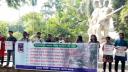 ঢাবিতে বৈধ সিটের দাবিতে শিক্ষার্থীদের মানববন্ধন