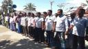 মোংলা নৌ থানা ওসির বিরুদ্ধে মানববন্ধন