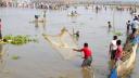 বুড়ির বাঁধে মাছ শিকারের মহোৎসব, মানুষের ঢল