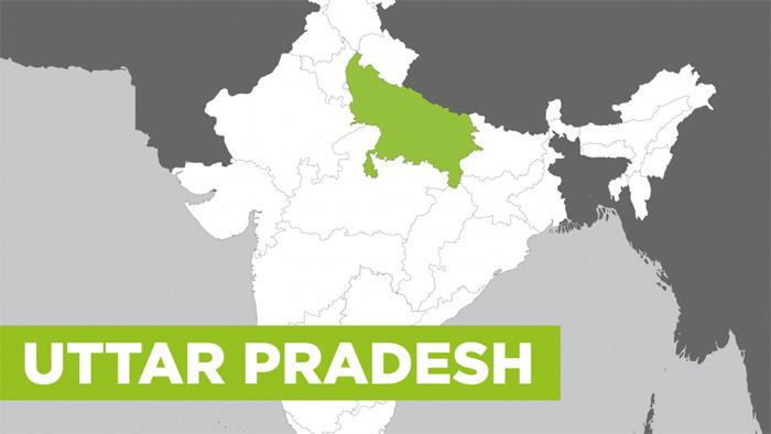 ভারত'র উত্তর প্রদেশ রাজ্যের মানচিত্র