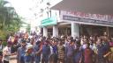 ফি কমানোর দাবিতে আন্দোলনে বশেমুরবিপ্রবি শিক্ষার্থীরা