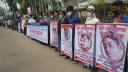ব্যবসায়ী সোহেল হত্যার বিচার দাবিতে নোয়াখালীতে মানববন্ধন