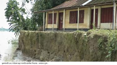খুলছে না কুড়িগ্রামের ৭৮টি স্কুল: ভাঙনে বিলীন ১৮টি