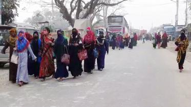 মোংলায় পরিবহণ ধর্মঘট, ভোগান্তিতে যাত্রীরা