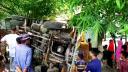 বাগাতিপাড়ায় ট্রাক উল্টে শ্রমিক নিহত