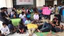 ফের রবীন্দ্র বিশ্ববিদ্যালয়ের শিক্ষার্থীরা আন্দোলনে