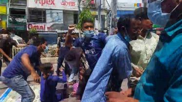রাজশাহীতে শিক্ষার্থীদের কর্মসূচিতে হামলা