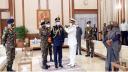 বিমান বাহিনী প্রধানকে এয়ার মার্শাল র্যাঙ্ক ব্যাজ পরানো হয়েছে