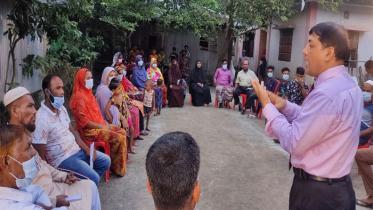 নিরাপদ নারী অভিবাসন নিশ্চিতকরণে কুমিল্লায় উঠান বৈঠক