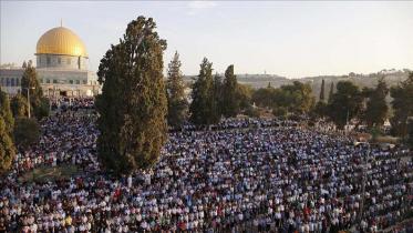 আল আকসায় ঈদ-উল-ফিতরের নামাজ আদায়