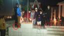 জুতা পায়ে শহীদ মিনারে ওসি ও এসিল্যান্ড, জনমনে ক্ষোভ