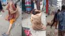 বাস থেকে নারীকে ফেলে দিলো হেলপার, নিন্দার ঝড়