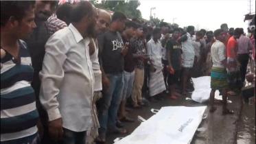 গাজীপুরের কালিয়াকৈরে কভারভ্যান চাপায় দুই জনের মৃত্যু