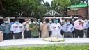 টুঙ্গিপাড়ায় জাতির পিতার সমাধিতে নতুন লেজিসলেটিভ সচিবের শ্রদ্ধা