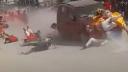 দুর্গাপূজার শোভাযাত্রায় ভয়ঙ্কর গাড়ির ধাক্কা, ভিডিও ভাইরাল